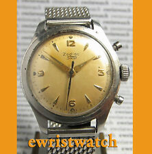 "Rare 1950's Vintage Genuine Zodiac ""STOP"" Flyback Chronograph Men's Watch"