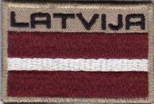 LATVIA. Latvian Army NATIONAL FLAG & TITLE PATCH