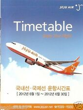 Airline Timetable - Jeju Air - 01/06/12 (Korea) - B737 cover - S