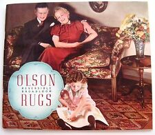 "1937 ""Olson Rugs"" Catalog w/ Colorful Pictures of Rooms Decorated w/ Rugs *"