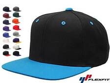15 Lot Classic Snapback Snap Back Baseball Blank Plain Hat Caps Yupoong 6089M