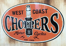 Motorradaufkleber Oldschool Biker Sticker West Coast James Chopper Bobber USA