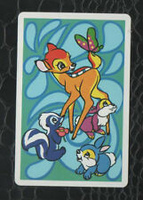 Playing Swap Cards 1 Single 1970's Bambi & Friends Retro Nintendo Japanese N8
