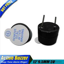 2Pcs 12*9.5MM 5V Active Buzzer Magnetic Long Continous Beep Tone Alarm Ringer U