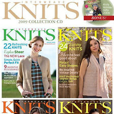 4 Issues on CD: INTERWEAVE KNITS MAGAZINE 2009 Stripes Reversible Cables + Bonus