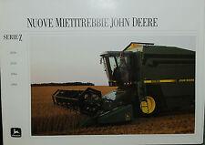 "PUBBLICITA' - ""JOHN DEERE : NUOVE MIETITREBBIE SERIE - Z - 2056-2058-2064-2066 """