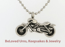 "Motorcycle Cremation Jewelry Keepsake Urn Pendant Memorial-20"" Ball Chain Funnel"