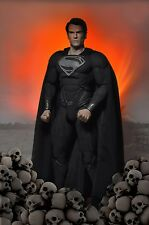 Man of Steel - 1/4 Scale Black Suit Superman Action Figure ( Henry Cavil )- NECA