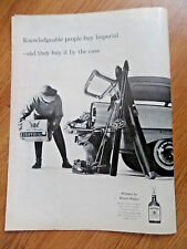 1958 Imperial Hiram Walker Whiskey Ad Station Wagon Case Skiing Theme