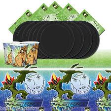 Ben 10 Alien Force Negro Para Niños Felices Fiesta De Cumpleaños Vajilla Pack Para 16