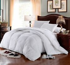 1500TC King / Cal King SIBERIAN GOOSE DOWN Comforter White SOLID Egyptian Cotton