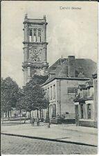 Ansichtskarte Carvin - Blick auf die Kirche der Stadt - mit Passanten - s/w