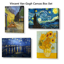 "VINCENT VAN GOGH POPULAR CANVASES BOX COLLECTION, 4 X 10"" x 8"" Canvases"