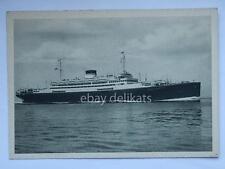 NAVE SATURNIA VULCANIA Cosulich Trieste ship lloyd paquebot vecchia cartolina *