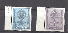 ITALY , UN , WORLD AGAINST MALARIA ,  SET OF 2 , PERF , VLH