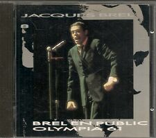 CD COMPIL 15 TITRES--JACQUES BREL--BREL EN PUBLIC / OLYMPIA 1961