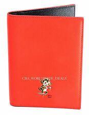 NEW Coach 64745 Gary Baseman Buster Le Fauve Orange Red Passport Case