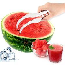 Watermelon Slicer Cutter Server Corer Scoop Stainless Steel Tool Utensils Slice
