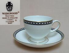 """Wedgwood """"Ulander"""" (Black & Gold, R4407) CUP & SAUCER"""