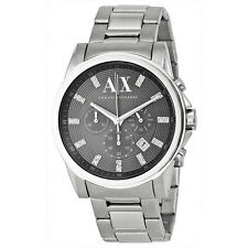 Armani AX Exchange Chronograph Grey Dial Stainless Steel Mens Watch AX2092