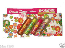Chupa Chups 4 X Lip Smackers Flavoured Lip Balm Gift Set Boxed