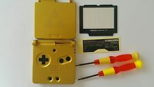 UK-PHONECASEONLINE HOUSING/SHELL GAME BOY ADVANCE SP GOLD ZELDA NEW