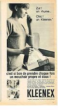 PUBLICITE ADVERTISING   1961  KLEENEX   mouchoirs