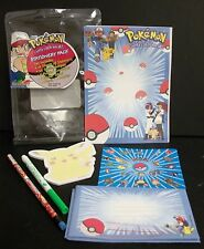 NEW POKEMON ROSEART STATIONERY SET STICKERS PIKACHU NOTEPAD PENCIL