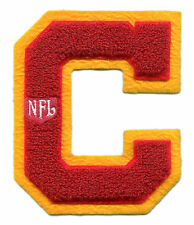 "KANSAS CITY CHIEFS NFL FOOTBALL 5.5"" CHENILLE LETTER C TEAM PATCH"