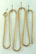 ITALY 1970'S VINTAGE 18K GOLD ROUND WOVEN 20 INCH CHAIN NECKLACE 7.3 GRAMS