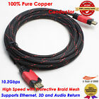 15FT Braided HDMI Cable V1.4 Digital 3D High Speed w/ Ethernet HEC Full HD 1080p