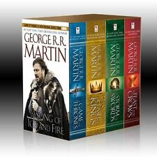 A Song of Ice and Fire Books 1-4 Set by George R.R. Martin, Game of Thrones P.B.