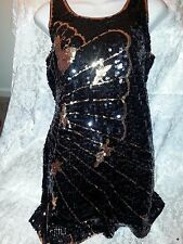 Size Large Black-Gold sequin shimmer dress