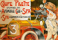 Art Poster - French - Automobile Club and Spa Coupe - Deco  A3 Print