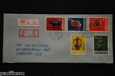 China PRC T29 Arts and Crafts Set on 2 Covers - Registered to Singapore