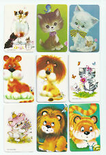 #600.007 Blank Back Swap Cards -MINT- Lot of 9 - Cats, big & small