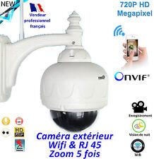Caméra de surveillance motorisée- Wifi extérieure - Etanche  - Zoom 5 x