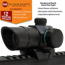 Red & green dot sight / Shockproof holographic rifle sight / Airsoft sight