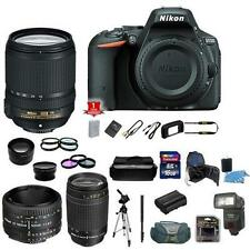 Nikon D5500 DSLR Camera Body - 5 Lens Kit 18-140mm 70-300mm 50mm Big Package