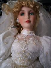 PARADISE GALLERIES 23 inch BRIDE PORCELAIN DOLL