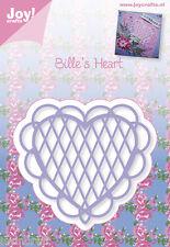 JOY Crafts Die Taglio Goffratura STENCIL-BILLIE's Heart 6002/0344 ridotto