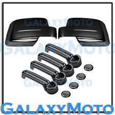 08-12 JEEP LIBERTY Triple Black Chrome plated Mirror+4 Door Handle Cover COMBO