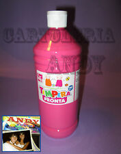 TEMPERA LIQUIDA PRONTA IN BOTTIGLIA 1000 ML (1 LITRO) - ROSA CWR 08808/07