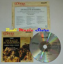CD VERDI Un ballo in maschera CARRERAS WIXELL CABALLE grandi opera lp mc dvd