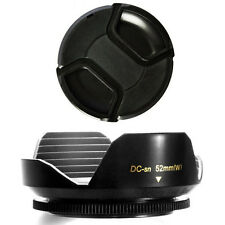 52mm Wide Lens Hood Petal Shape and Lens Cap for Pentax DA 18-55mm 1:3.5-5.6 AL