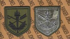 US Army Judge Advocate General School JAG OD Green Black BDU uniform patch m/e