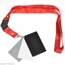 3in1 Digital 18% Gray/White/Black Card Set Photography Exposure Balance Strap