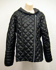 Jessica Simpson Women's XL Packable Black Down Coat Jacket with Hood Lightweight