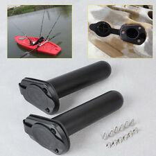 1pcs Flush Mount Fishing Rod Holder With Cap Gasket Cover For Kayak Canoe Boat