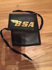 Vintage Motorcycle Vinyl Tool Pouch Bag Printed Logo Norton or BSA
